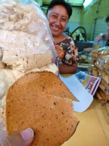 A ton of masa, fried tortilla, and a smiling Yucatecan