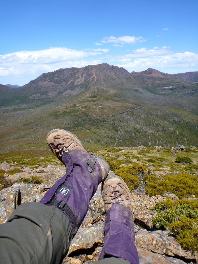 Kicking my heels up atop Mt. Pelion East